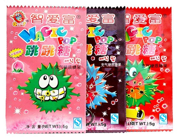 Chinesische Snacks mit Kultcharakter - Knallbrause 跳跳糖